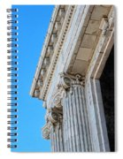 Lincoln County Courthouse Columns Looking Up 02 Spiral Notebook