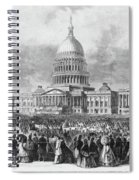 Lincoln Inauguration, 1865 Spiral Notebook