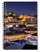 Lisbon Downtown Spiral Notebook