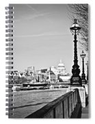 London View From South Bank Spiral Notebook