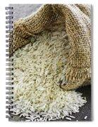 Long Grain Rice In Burlap Sack Spiral Notebook