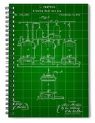 Louis Pasteur Beer Brewing Patent 1873 - Green Spiral Notebook