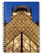 Louvre Pyramid Spiral Notebook