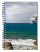 Majesty Of The Seas At Coco Cay Spiral Notebook