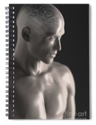 Male Figure With Brain Spiral Notebook