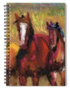 Mares And Foals Spiral Notebook