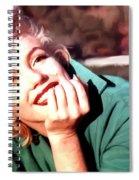 Marilyn Monroe Large Size Portrait Spiral Notebook