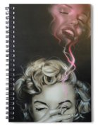 Marilyn's Crimson Haze Spiral Notebook