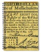 Massachusetts Banknote Spiral Notebook