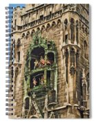 Mechanical Clock In Munich Germany Spiral Notebook