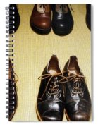 Mens Fine Italian Leather Shoes Spiral Notebook