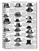 Men's Hats, 1895 Spiral Notebook