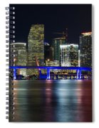 Miami Downtown Skyline Spiral Notebook