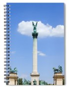 Millennium Monument In Budapest Spiral Notebook