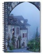 Misty Dawn In Saint Cirq Lapopie Spiral Notebook