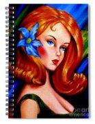 Mod Barbie Redhead Spiral Notebook