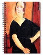 Modigliani's Madame Amedee -- Woman With Cigarette Spiral Notebook
