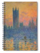 Monet's The Houses Of Parliament At Sunset Spiral Notebook
