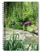 Monets Waterlily Pond Spiral Notebook