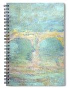 Monet's Waterloo Bridge In London At Sunset Spiral Notebook