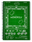 Monopoly Patent 1935 - Green Spiral Notebook