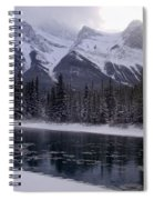 Mountain Sunset Christmas Canmore, Alberta Spiral Notebook