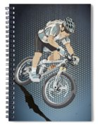 Mountainbike Sports Action Grunge Color Spiral Notebook