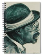 Mr Bowler Mustache Spiral Notebook