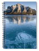 Mt. Michener And Ice On Abraham Lake Spiral Notebook