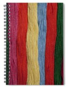 Multicolored Embroidery Thread In Rows Spiral Notebook