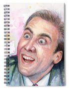 Nicolas Cage You Don't Say Watercolor Portrait Spiral Notebook