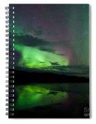 Night Sky Stars Clouds Northern Lights Mirrored Spiral Notebook