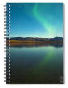 Northern Lights And Fall Colors At Calm Lake Spiral Notebook