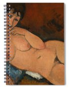 Nude On A Blue Cushion Spiral Notebook