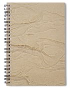 Ocean Sand Art Hearts Left Side Spiral Notebook
