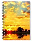 Okavango Delta Sunset Spiral Notebook