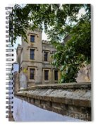 Peek Through The Tree's Of Old City Jail Spiral Notebook