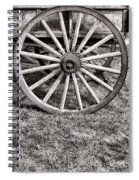 Old Wagon Wheel On Cart Spiral Notebook