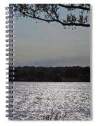 On A Glistening River Spiral Notebook