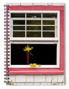Open Window With Yellow Flower In Vase Spiral Notebook