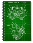 Optical Refractor Patent 1985 - Green Spiral Notebook