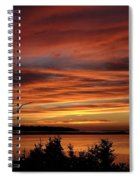 Outer Banks Sunset Over Bay And Colington Island Spiral Notebook