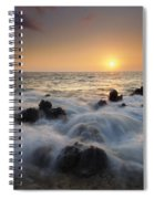 Over The Rocks Spiral Notebook