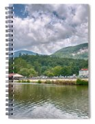 Overlooking Chimney Rock And Lake Lure Spiral Notebook