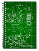 Padlock Patent 1935 - Green Spiral Notebook