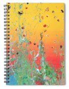 Paint Number Ninteen Diptych Spiral Notebook
