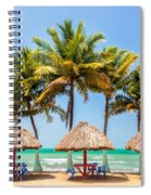 Palm Trees And Sea Spiral Notebook