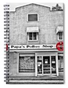 Papa's Poboy Shop Spiral Notebook