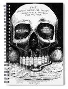 Patent Medicine Cartoon Spiral Notebook