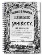 Patent Medicine Poster Spiral Notebook